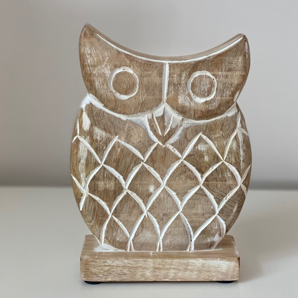 CLASSIC Carved Wood OWL Home Decoration NEW